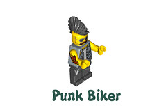 LEGO Minifigures Series 10 -  Punk Biker