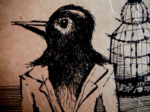 Storage Bag Crow Detail by The People In My Head
