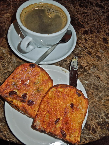 Coffee and Toasted Panettone, Delicious! ...(330/366) by Irene.B.