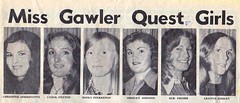 entrants in the Miss Gawler quest 1975