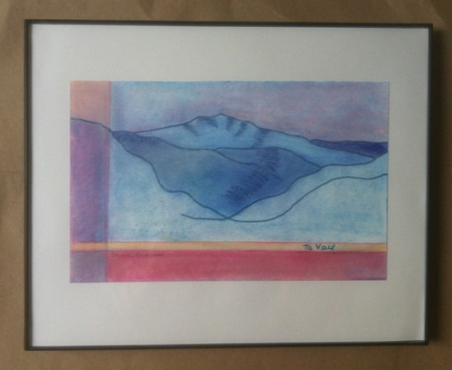 Colorado Drawings: To Vail (Framed) by randubnick