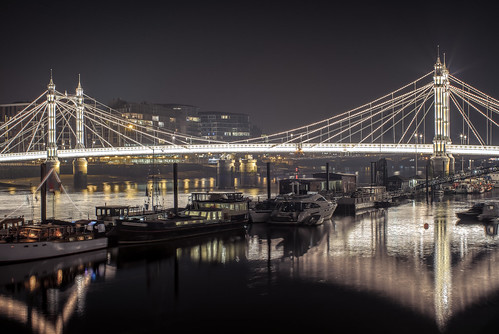 Albert Bridge and Moorings
