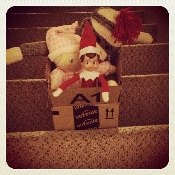 Carpet sledding #elfontheshelf