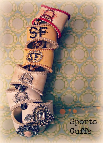 Jeweled Baseball Cuffs 13