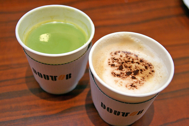 Matcha Latte and Cappucino