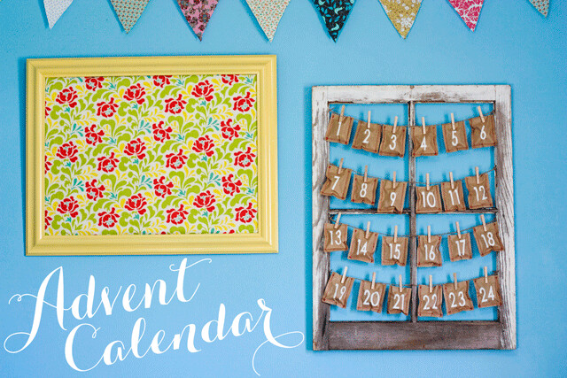 Advent Calendar, Handmade advent calendar, Advent Calendar tutorial, tutorial, holiday tutorial, Christmas tutorial, DIY Advent Calendar, Shabby Chic Advent Calendar