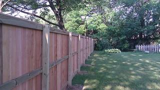 Cedar Privacy Fence Install