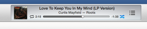 iTunes main window title bar