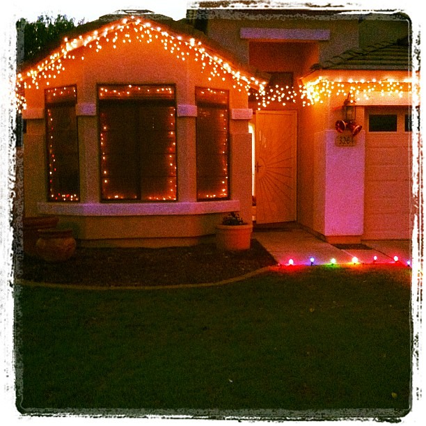 Found some more twinkle lights. Had to put them up too! #projectchristmasfy