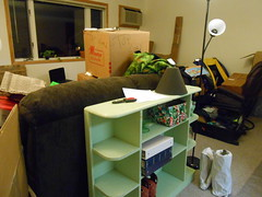 Unpacking Progress-Day 2 living room from door