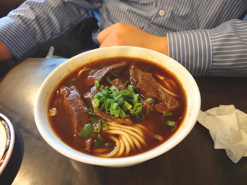 牛肉麺:The Beef noodle soup