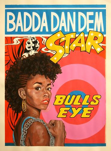Badda, acrylic on paper, 70cm x 50cm