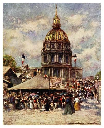 018- Hotel de los Invalidos en fiesta-Paris (1909)-Mortimer Menpes