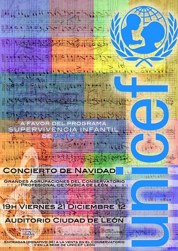 CONCIERTO DE NAVIDAD A FAVOR DE UNICEF LEÓN - AGRUPACIONES DEL CONSERVATORIO DE LEÓN - VIERNES 21 DICIEMBRE´12 - AUDITORIO CIUDAD DE LEÓN
