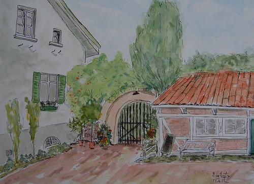 38 Schlossgarten Aquarell 30x40 2012