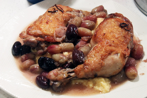 Harvest Roast Chicken with Grapes and Olives - Amateur Gourmet