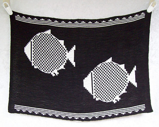 Mimbres Fish vintage wall hanging 051712-005