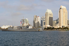 In this file photo, USS Curts (FFG 38) returns to San Diego in December 2012 at the close of its final deployment. (U.S. Navy photo by Mass Communication Specialist 2nd Class (SW/AW) Rosalie Garcia)