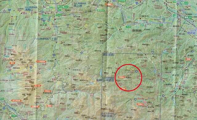 両神山の位置