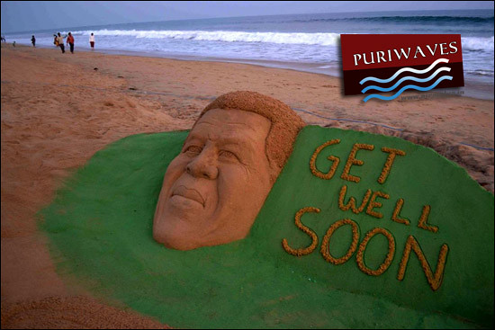 Get well Soon :: Nelson Mandela sand sculpture