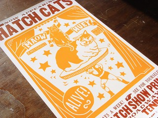 Hatch Cats letterpress poster