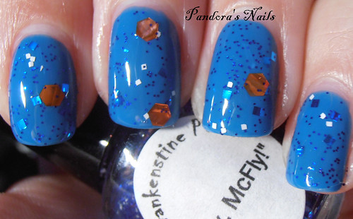 Frankenstine Polish Hey, McFly over Nubar Hot Blue 2