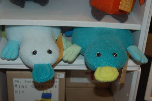 Stuffed platypus