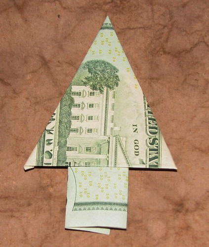 Dollar Bill Origami Christmas Tree: Ink Stains: 25 Ideas For The Holidays