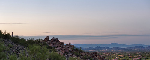 arizona mountain clouds sunrise landscape unitedstates az vista scottsdale lonemountain