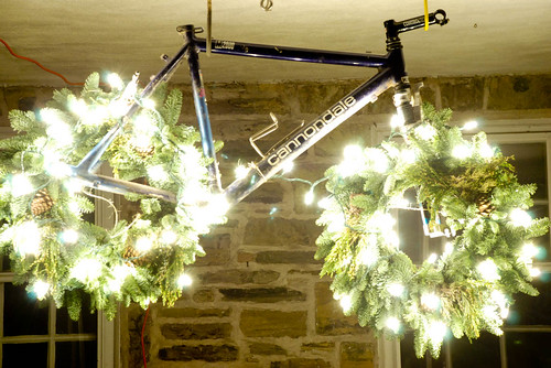 hanging Christmas bike (by: Josh Delp, creative commons)