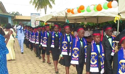 The 2016 graduates of St Louis Nursery and Primary School, Akure