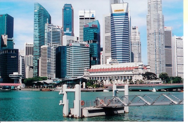 Singapore, Skyline from Promenade by Theaters by the Bay from m. muraskin-singapore