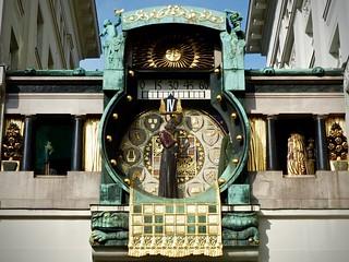 Image of Franz Joseph I. clock uhr reloj klok horloge orologio 時計 anker ankeruhr vienna austria artnoveau