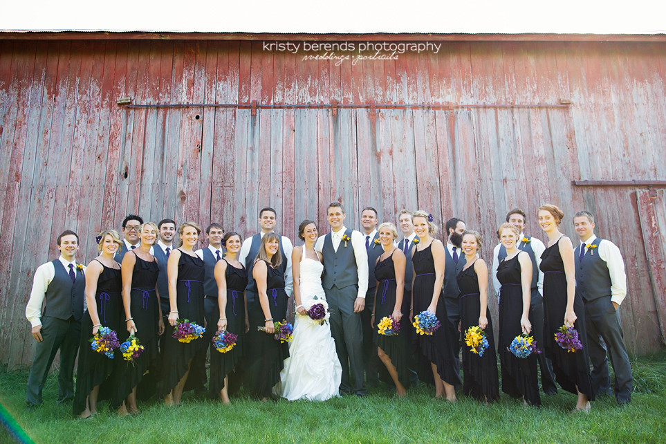 Wedding Party Old Barn