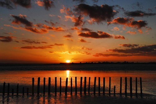 Winter Sunset, west Wittering