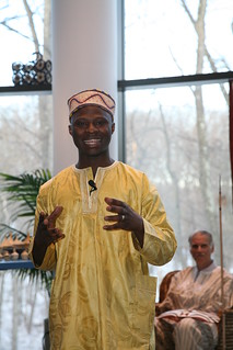 Image of a student during African Celebration event at Brandeis IBS