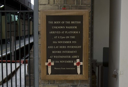 Memorial to the Unknown Warrior at Victoria Station
