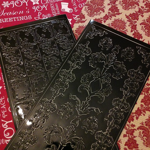 Baroque decorative peel off stickers