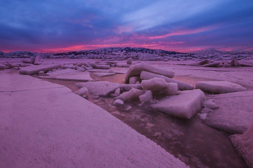 pink blue sunset red mountains cold color ice colors utah colorful purple utahlake utahcounty iceformations iceoff utahlakesunset anicyblastfromthepast