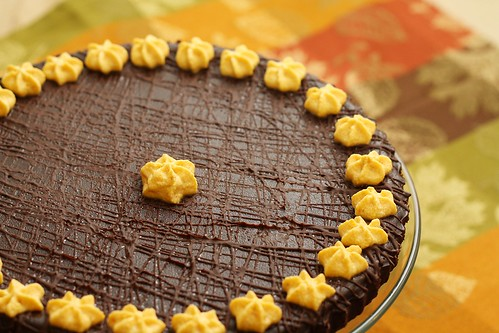 Dark Chocolate Pumpkin Torte