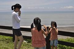 20110630-母女三人吹口琴-1