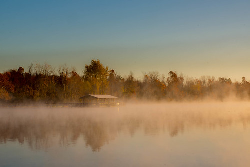 lake water fog sunrise day unitedstates steam arkansas fayetteville fogg