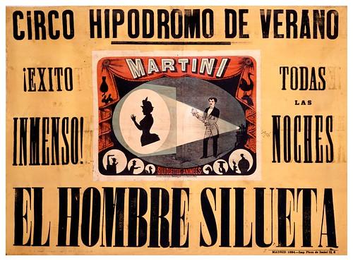 002-Circo hipodromo de Verano- El hombre silueta-1884-Copyright Biblioteca Nacional de España