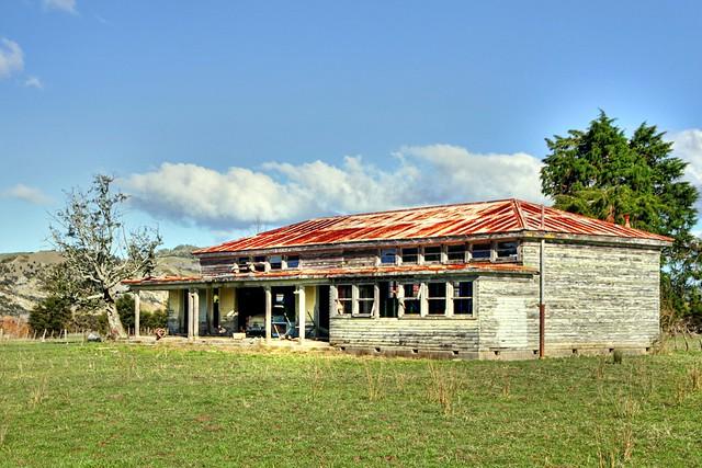 Old school house, Whakawhitira, East Coast, Gisborne, New