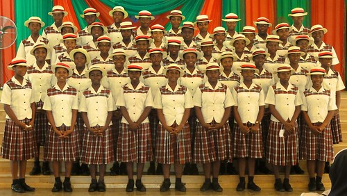 The school choir at Louisville High School, Ijebu-Itele, Ogun State, Nigeria. Singing is one of the many important extra-curricular activities at the school