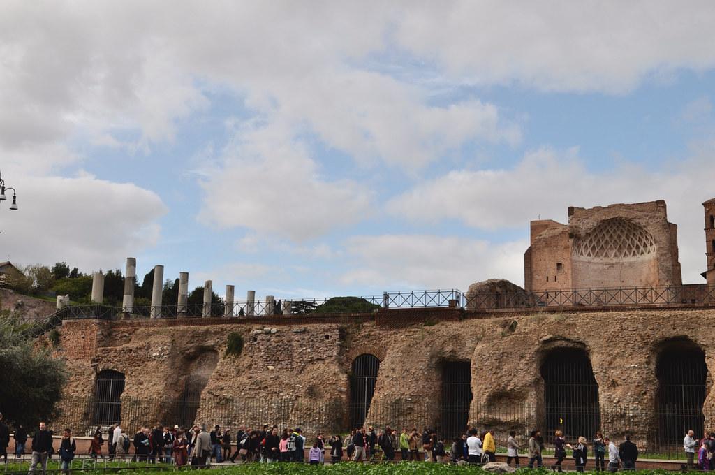 ruins across colosseum