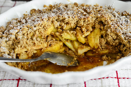 brown butter vanilla bean apple crisp
