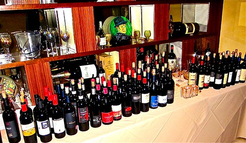 some of the wines served