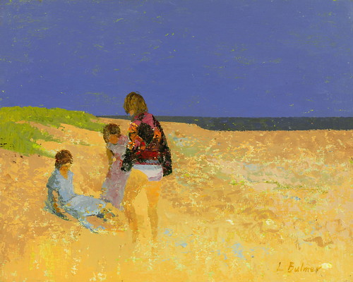 Bulmer,  Lionel  (English,  1909-1992)  -  Three Girls on the Beach  - s.d.