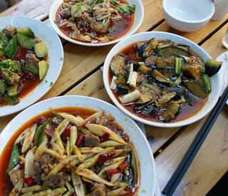 Spicy dishes in Sichuan